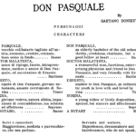 Don Pasquale Personaggi